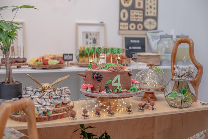 Bug Themed Dessert Table from an Insect & Bug Birthday Bash on Kara's Party Ideas | KarasPartyIdeas.com (10)
