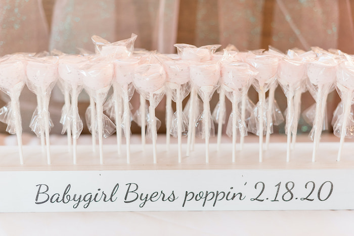 'Poppin' Cake Pops from an Intimate Champagne Blush Baby Brunch on Kara's Party Ideas | KarasPartyIdeas.com (17)
