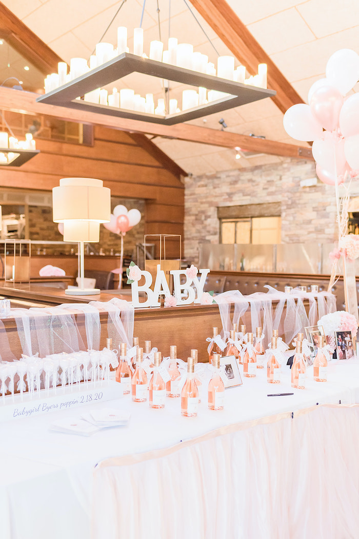 Favor Table from an Intimate Champagne Blush Baby Brunch on Kara's Party Ideas | KarasPartyIdeas.com (15)