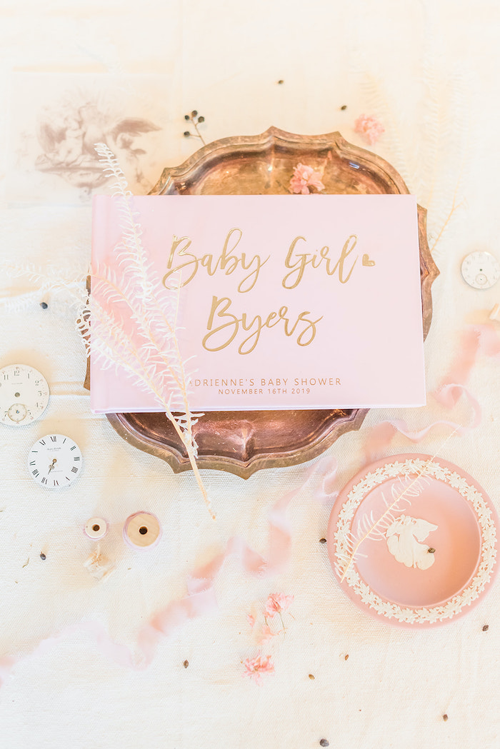 Custom Guest Book from an Intimate Champagne Blush Baby Brunch on Kara's Party Ideas | KarasPartyIdeas.com (31)