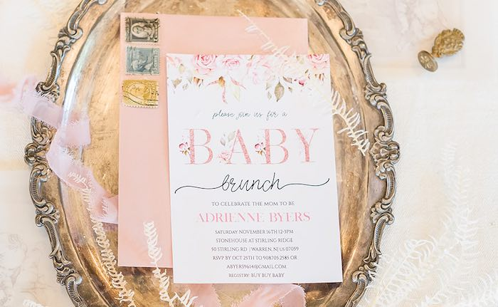 Intimate Champagne Blush Baby Brunch on Kara's Party Ideas | KarasPartyIdeas.com (10)