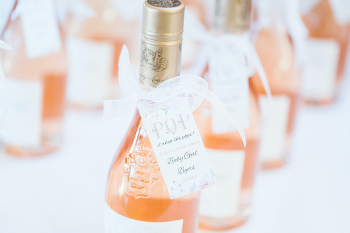 Champagne Favor from an Intimate Champagne Blush Baby Brunch on Kara's Party Ideas | KarasPartyIdeas.com (5)