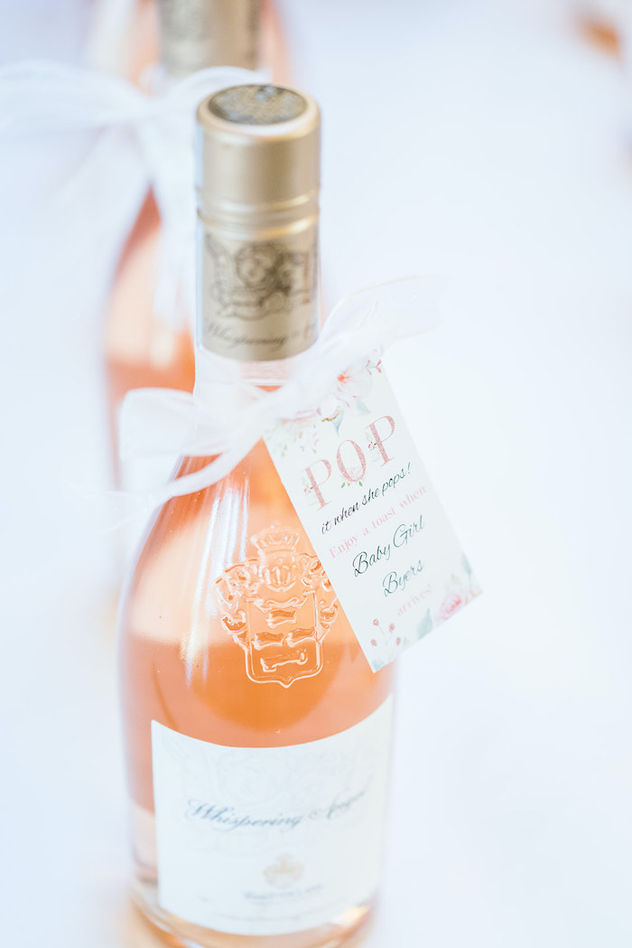 Champagne Favor from an Intimate Champagne Blush Baby Brunch on Kara's Party Ideas | KarasPartyIdeas.com (4)