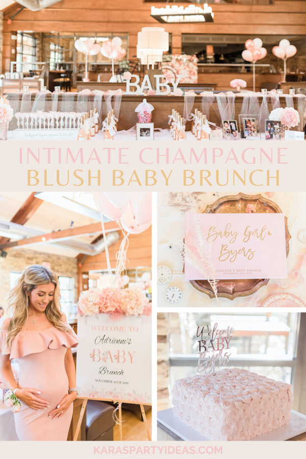 Intimate Champagne Blush Baby Brunch via Kara's Party Ideas - KarasPartyIdeas.com