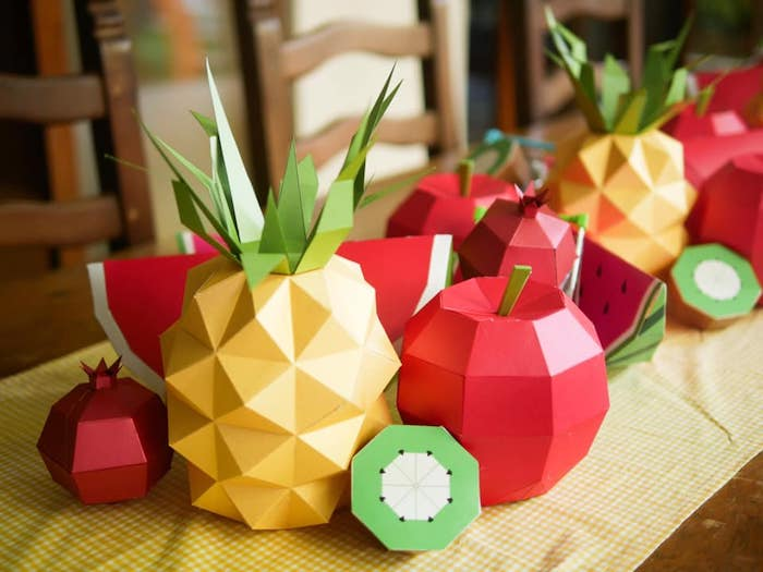 Origami Fruit from an Origami Tutti Frutti Party on Kara's Party Ideas | KarasPartyIdeas.com (17)