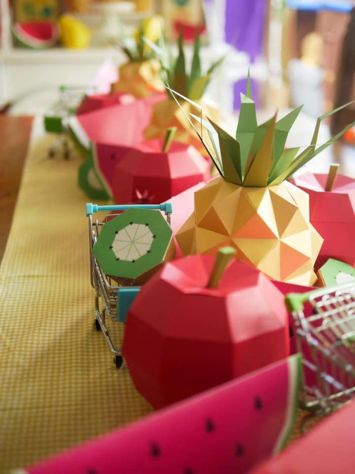 Origami Fruit from an Origami Tutti Frutti Party on Kara's Party Ideas | KarasPartyIdeas.com (15)