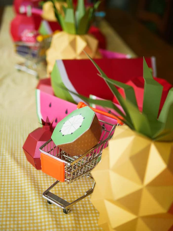 Origami Fruit from an Origami Tutti Frutti Party on Kara's Party Ideas | KarasPartyIdeas.com (10)
