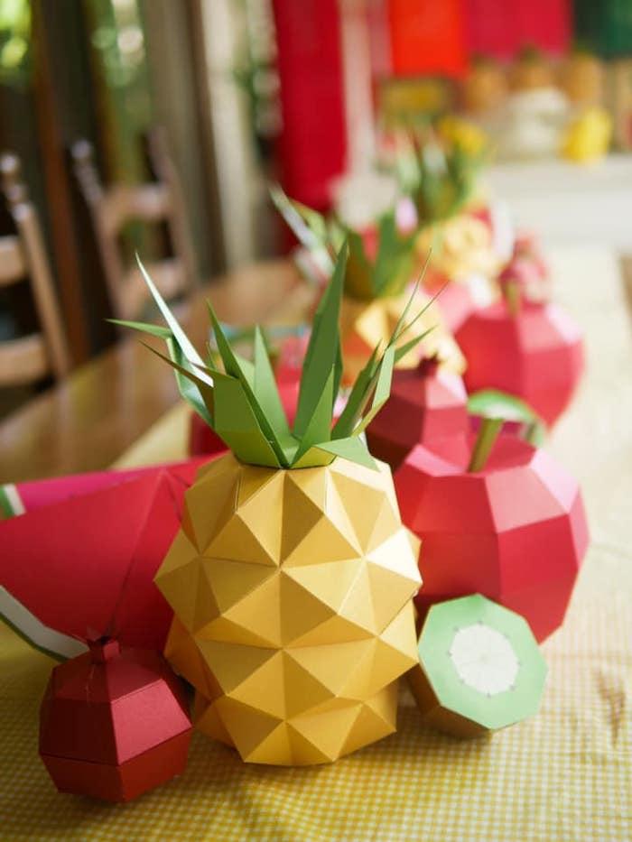 Origami Fruit from an Origami Tutti Frutti Party on Kara's Party Ideas | KarasPartyIdeas.com (9)