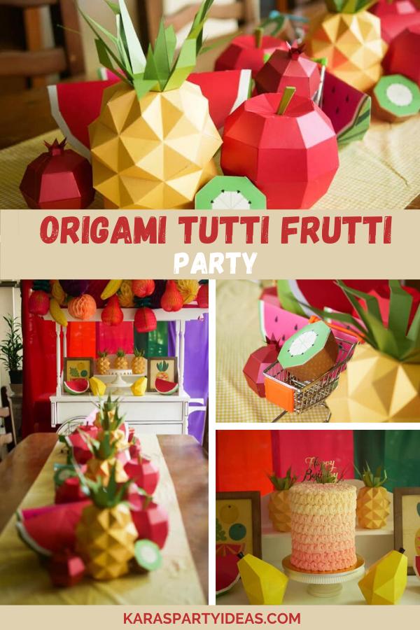 Origami Tutti Frutti Party via Kara's Party Ideas - KarasPartyIdeas.com