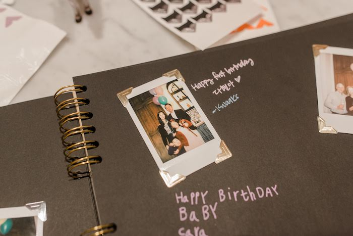 Instax Picture Guest Book from a Pastel Party Animal Birthday Party on Kara's Party Ideas | KarasPartyIdeas.com (18)