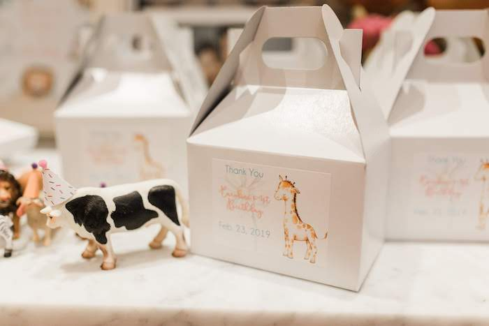 Baby Animal Gable Boxes from a Pastel Party Animal Birthday Party on Kara's Party Ideas | KarasPartyIdeas.com (5)