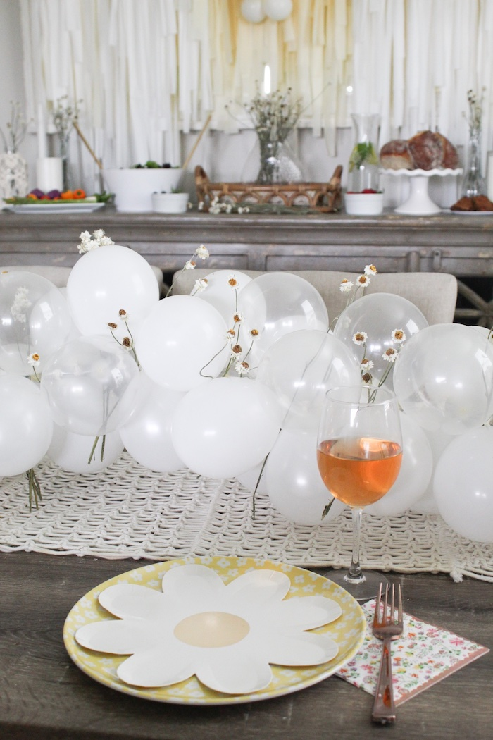 Daisy-inspired Table Setting from a Rustic Daisy Garden Party on Kara's Party Ideas | KarasPartyIdeas.com (10)