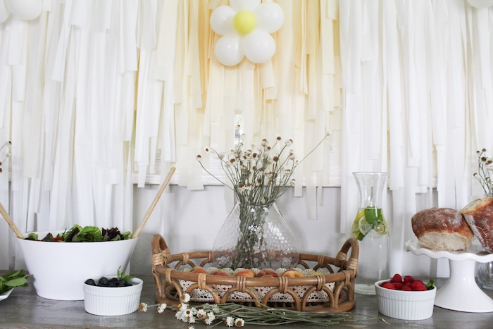 Daisy-inspired Food Table from a Rustic Daisy Garden Party on Kara's Party Ideas | KarasPartyIdeas.com (6)