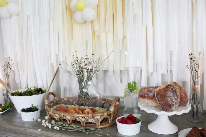 Food Table from a Rustic Daisy Garden Party on Kara's Party Ideas | KarasPartyIdeas.com (18)