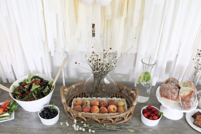 Food Table from a Rustic Daisy Garden Party on Kara's Party Ideas | KarasPartyIdeas.com (17)
