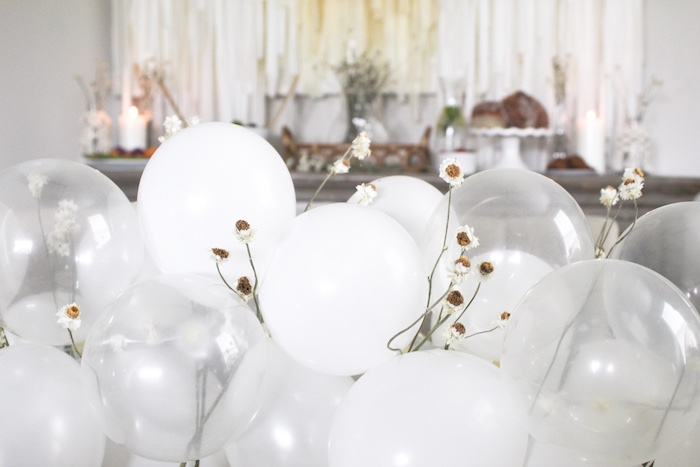 Daisy Balloon Runner from a Rustic Daisy Garden Party on Kara's Party Ideas | KarasPartyIdeas.com (15)