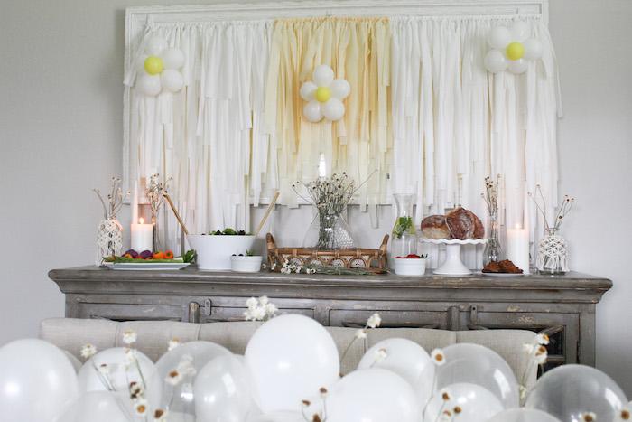 Daisy Themed Party Table from a Rustic Daisy Garden Party on Kara's Party Ideas | KarasPartyIdeas.com (14)