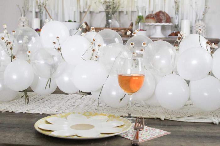 Daisy-inspired Table Setting + Guest Table from a Rustic Daisy Garden Party on Kara's Party Ideas | KarasPartyIdeas.com (11)