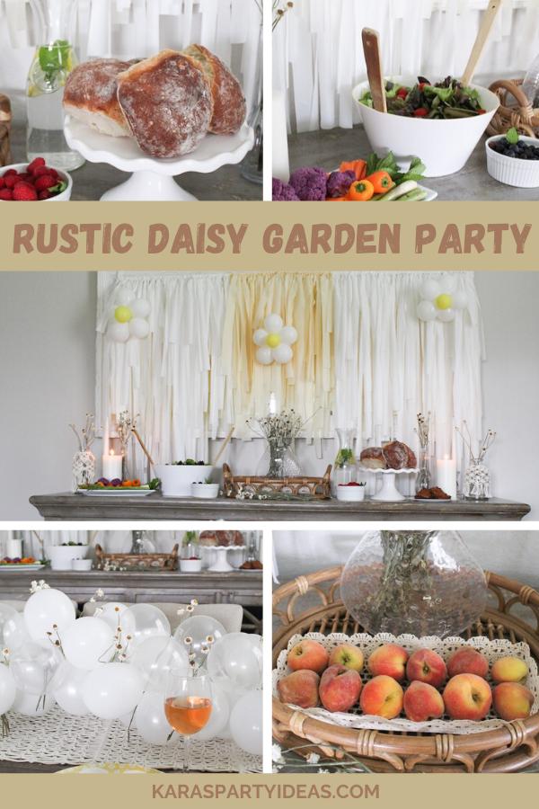 Rustic Daisy Garden Party via Kara's Party Ideas - KarasPartyIdeas.com