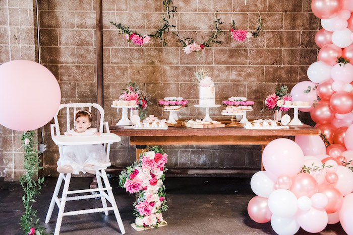 Rustic Floral Dahlias & Roses Birthday Party on Kara's Party Ideas | KarasPartyIdeas.com (13)