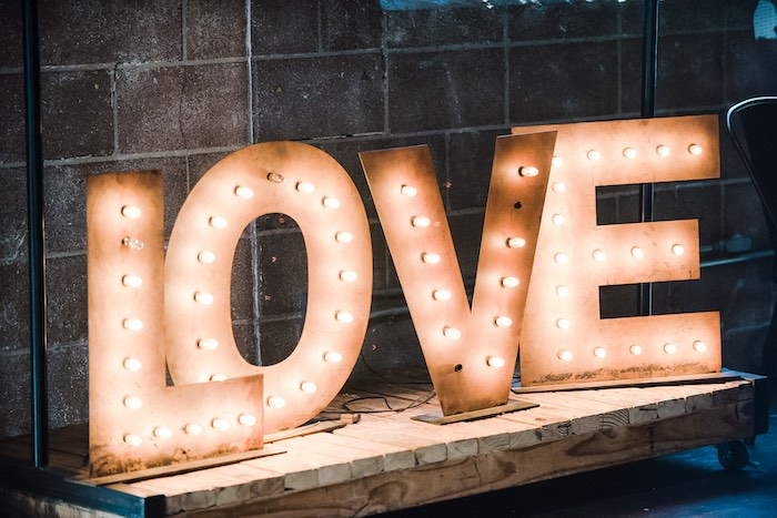 Rustic LOVE Letter Marquee Sign from a Rustic Floral Dahlias & Roses Birthday Party on Kara's Party Ideas | KarasPartyIdeas.com (8)
