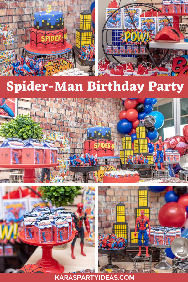 Spider-Man Birthday Party via Kara's Party Ideas - KarasPartyIdeas.com