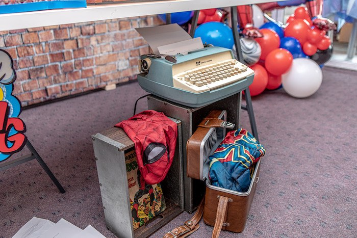 Peter Parker-inspired Decor from a Spiderman Birthday Party on Kara's Party Ideas | KarasPartyIdeas.com (5)