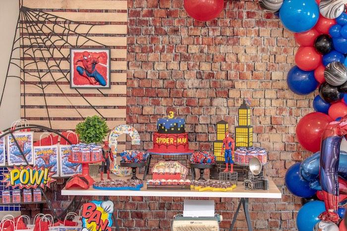 Spiderman Dessert Table from a Spiderman Birthday Party on Kara's Party Ideas | KarasPartyIdeas.com (17)