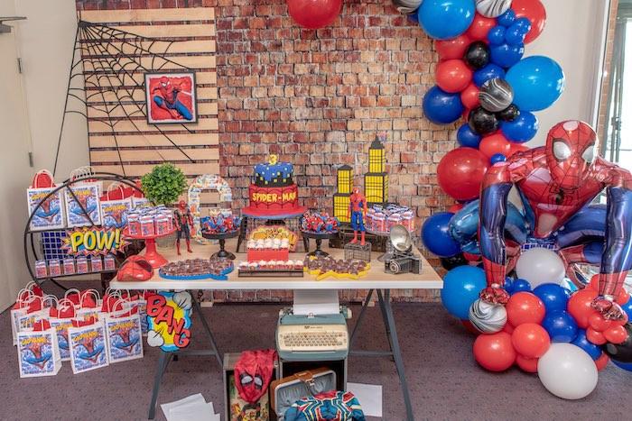 Spiderman Birthday Party on Kara's Party Ideas | KarasPartyIdeas.com (15)