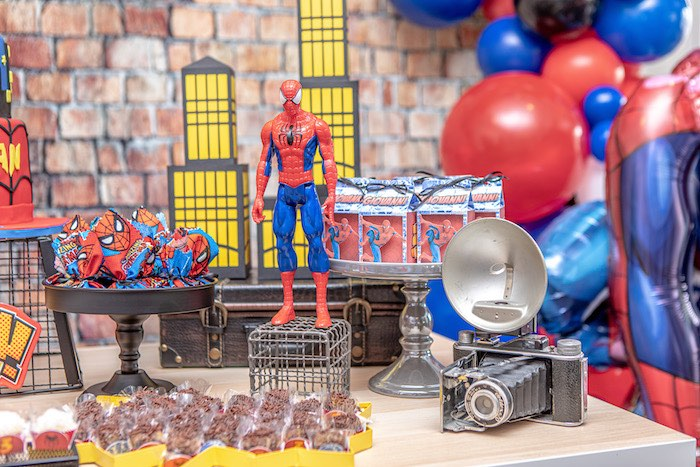 Spiderman Themed Dessert Table from a Spiderman Birthday Party on Kara's Party Ideas | KarasPartyIdeas.com (12)