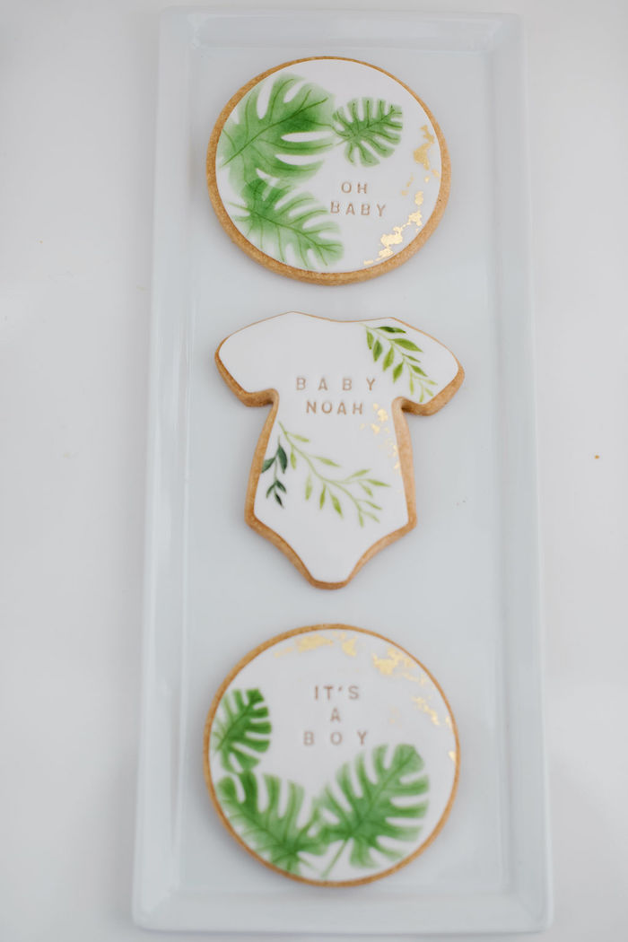 Tropical Baby Shower Cookies from a Tropical Chic Baby Shower on Kara's Party Ideas | KarasPartyIdeas.com (29)