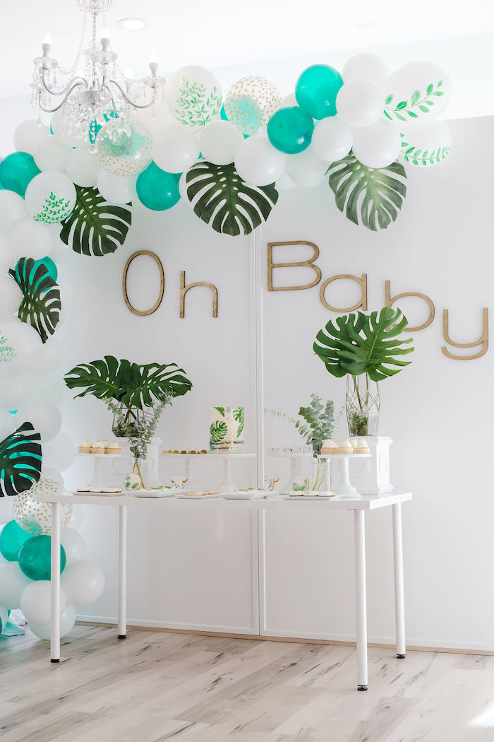 Tropical Dessert Table from a Tropical Chic Baby Shower on Kara's Party Ideas | KarasPartyIdeas.com (26)