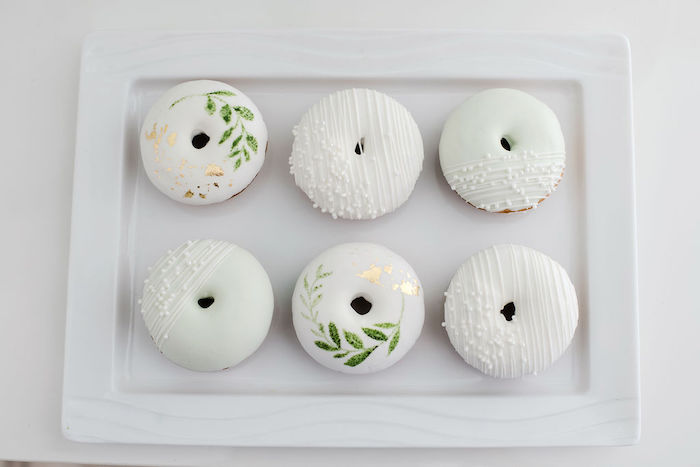 Mini Doughnuts from a Tropical Chic Baby Shower on Kara's Party Ideas | KarasPartyIdeas.com (20)