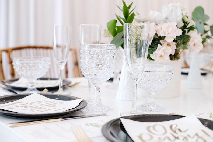 Crystal Glasses + Goblets from a Tropical Chic Baby Shower on Kara's Party Ideas | KarasPartyIdeas.com (42)