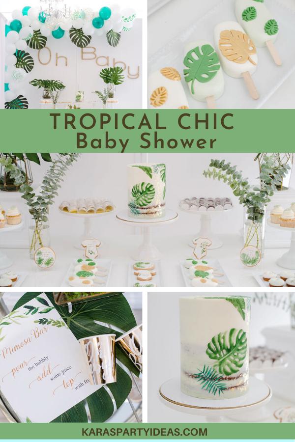 Tropical Chic Baby Shower via Kara's Party Ideas - KarasPartyIdeas.com