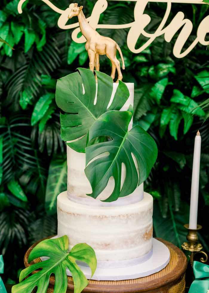 Safari Party Cake from a Tropical Safari Birthday Party on Kara's Party Ideas | KarasPartyIdeas.com (21)