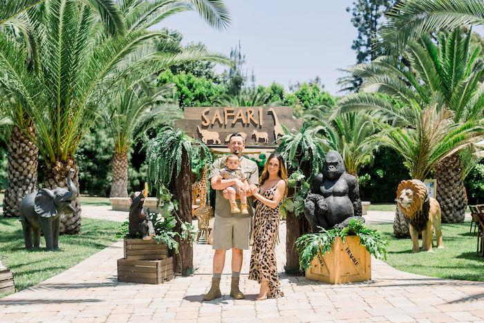 Safari Party Entrance from a Tropical Safari Birthday Party on Kara's Party Ideas | KarasPartyIdeas.com (11)