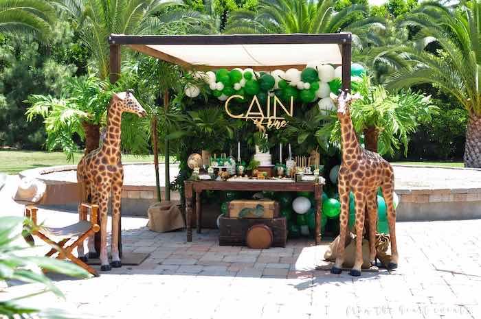 Safari Themed Dessert Table from a Tropical Safari Birthday Party on Kara's Party Ideas | KarasPartyIdeas.com (32)