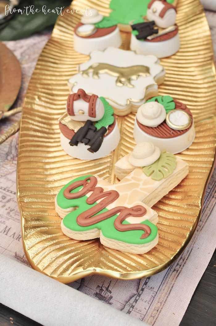 Safari Themed Cookies + Covered Oreos from a Tropical Safari Birthday Party on Kara's Party Ideas | KarasPartyIdeas.com (30)