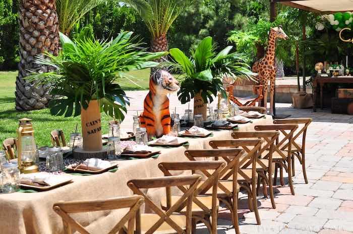 Safari Party Table from a Tropical Safari Birthday Party on Kara's Party Ideas | KarasPartyIdeas.com (26)