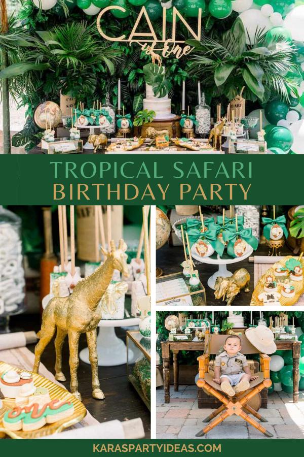 Tropical Safari Birthday Party via Kara's Party Ideas - KarasPartyIdeas.com