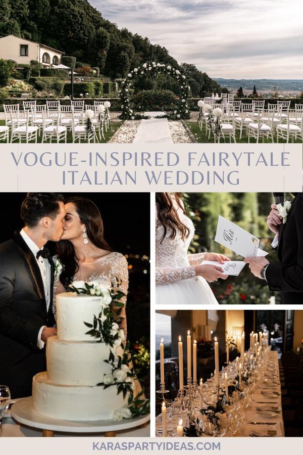 Vogue-Inspired Fairytale Italian Wedding via Kara's Party Ideas - KarasPartyIdeas.com