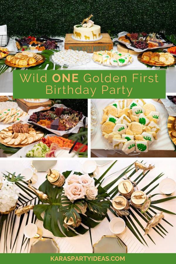 Wild ONE Golden First Birthday Party via KarasPartyIdeas - KarasPartyIdeas.com
