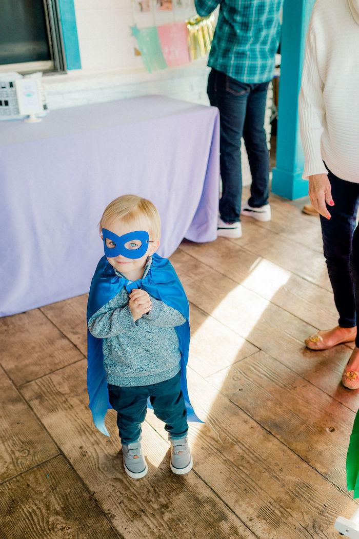 Superhero Cape & Mask from a Wonder Woman Inspired 1st Birthday Party on Kara's Party Ideas   KarasPartyIdeas.com (48)