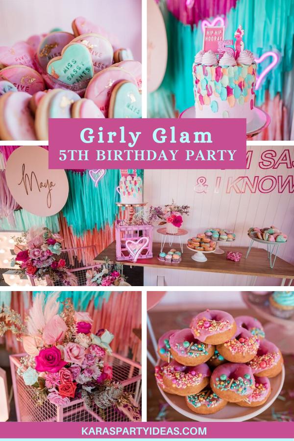 """""""I'm Sassy and I know it"""" Girly Glam 5th Birthday Party via Kara's Party Ideas - KarasPartyIdeas.com"""