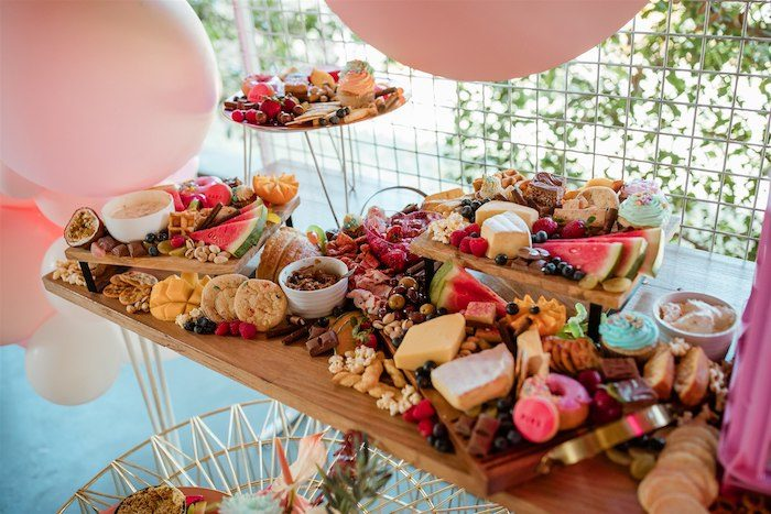"""Glam Grazing Board + Table from an """"I'm Sassy and I know it"""" Girly Glam 5th Birthday Party on Kara's Party Ideas   KarasPartyIdeas.com (46)"""