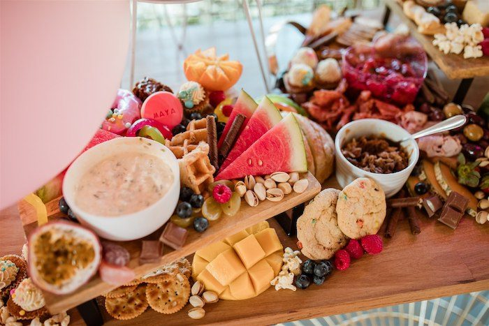 """Glam Grazing Board + Table from an """"I'm Sassy and I know it"""" Girly Glam 5th Birthday Party on Kara's Party Ideas   KarasPartyIdeas.com (43)"""