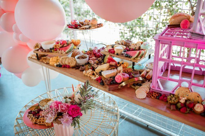 """Glam Grazing Table from an """"I'm Sassy and I know it"""" Girly Glam 5th Birthday Party on Kara's Party Ideas   KarasPartyIdeas.com (42)"""