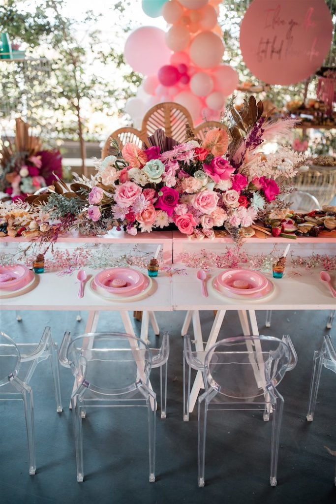 """Glam Grazing Guest Table from an """"I'm Sassy and I know it"""" Girly Glam 5th Birthday Party on Kara's Party Ideas   KarasPartyIdeas.com (34)"""