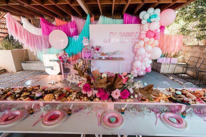 """I'm Sassy and I know it"" Girly Glam 5th Birthday Party on Kara's Party Ideas   KarasPartyIdeas.com (33)"